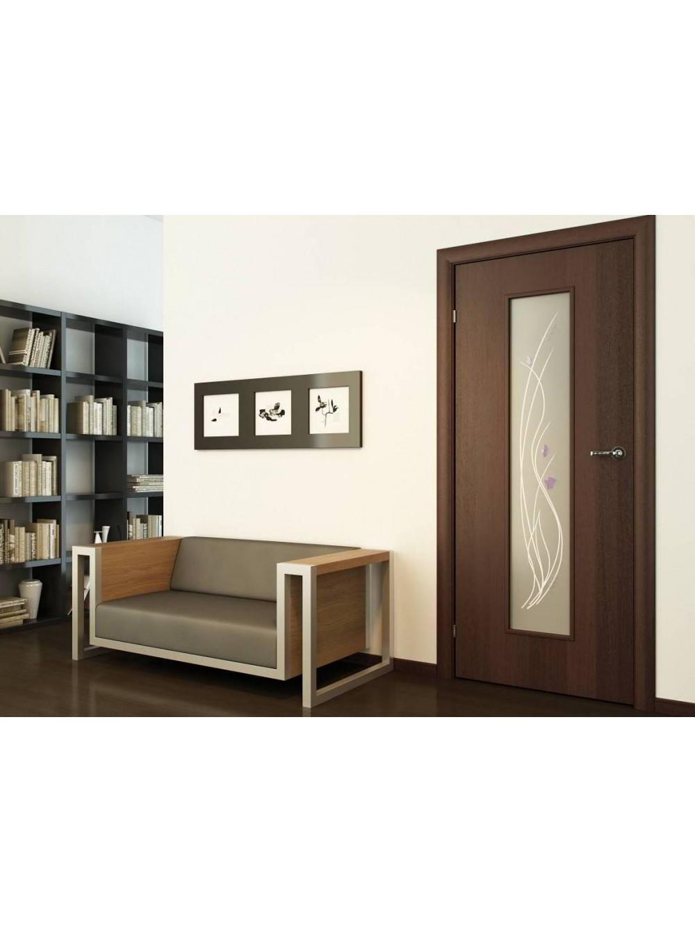 Межкомнатная дверь Витраж Венге