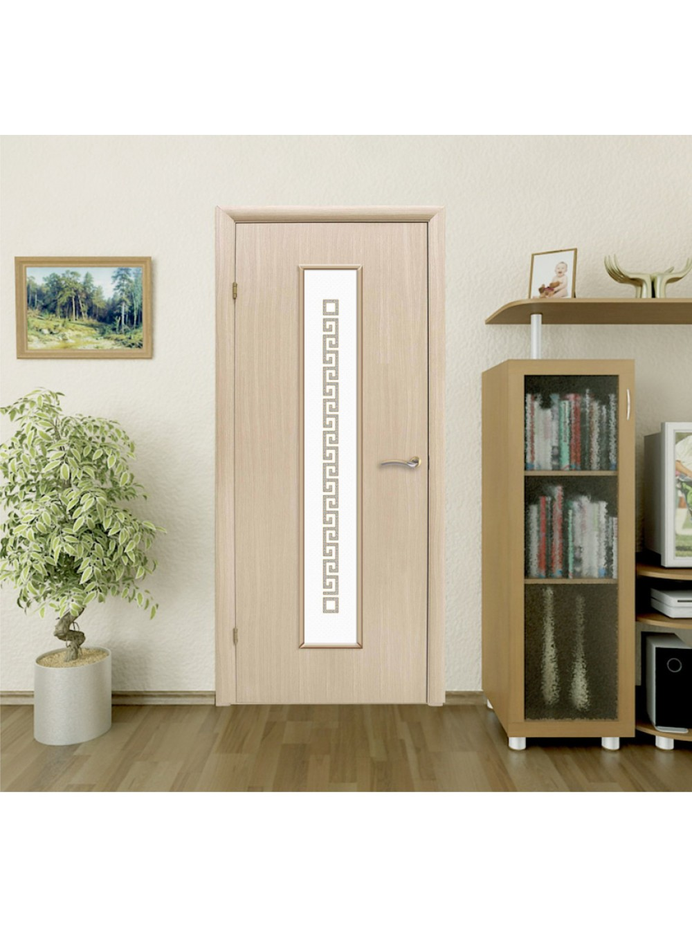 Межкомнатная дверь Сиртаки ПО Беленый дуб