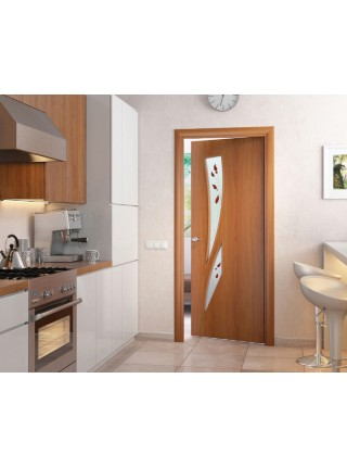 Межкомнатная дверь Стрелиция Миланский Орех