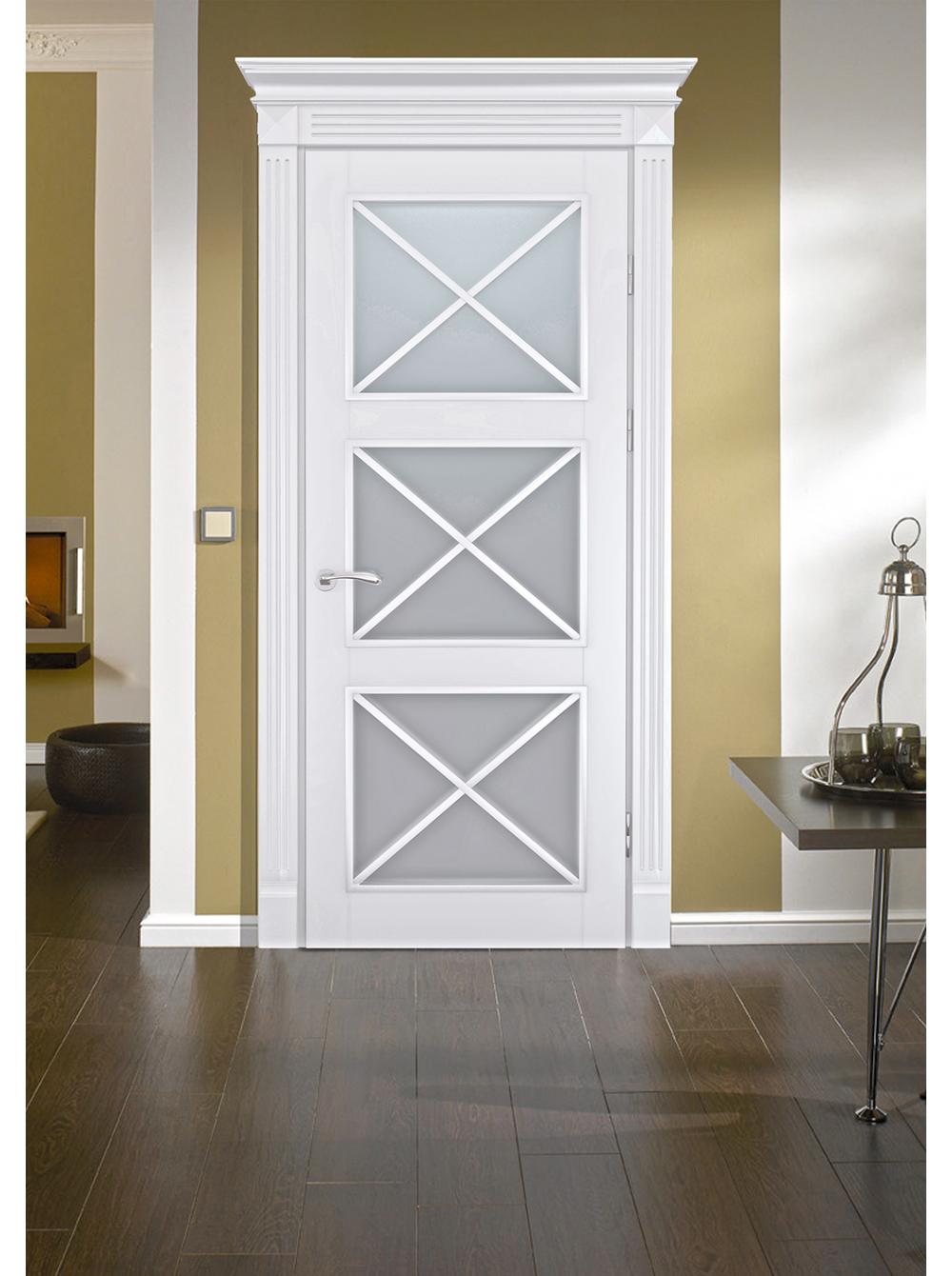 Межкомнатная дверь Аврора(Остекленное полотно)