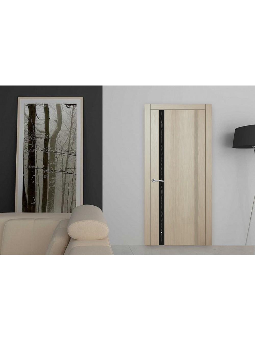 Межкомнатная дверь Европа 1 с рисунком(Остекленное полотно)