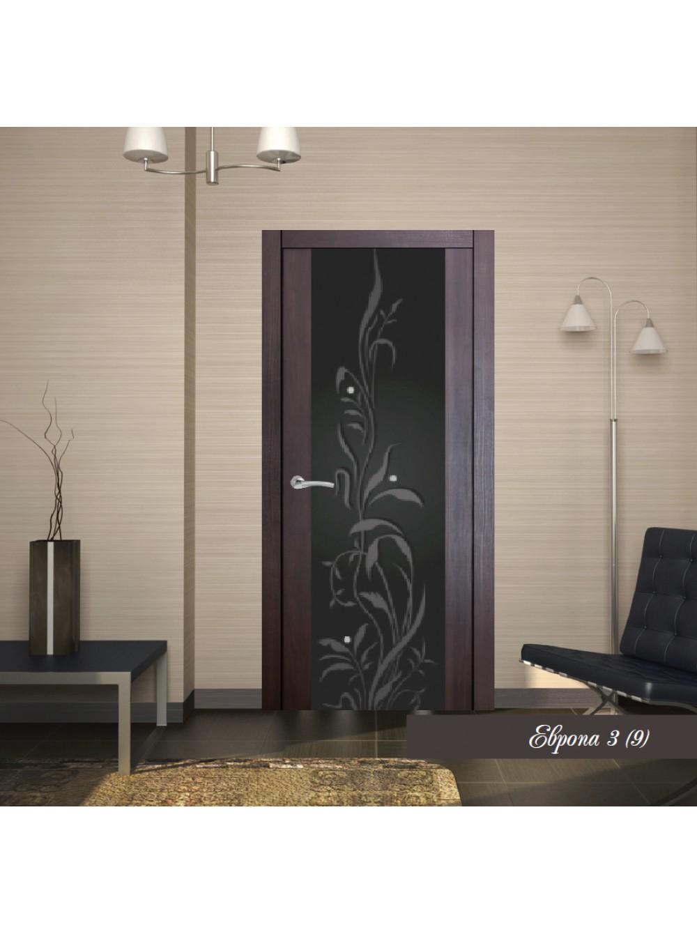 Межкомнатная дверь Европа 3 с рисунком