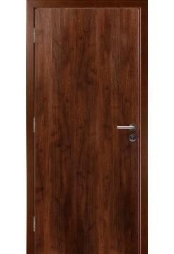 Противопожарная дверь Орех Памплона 3D