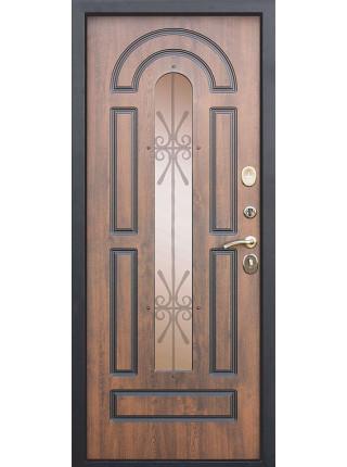 Металлическая дверь VIKONT грецкий орех