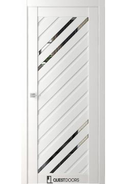 Межкомнатная дверь QZ14 даймонд зеркало графит