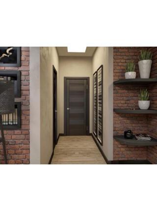 Межкомнатная дверь QXV41 миндаль