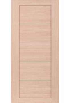 Межкомнатная дверь СО4 Дуб беленый вставка алюм МЕТАЛЛИК