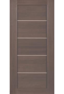 Межкомнатная дверь Дуб венге вставка алюм. МЕТАЛЛИК