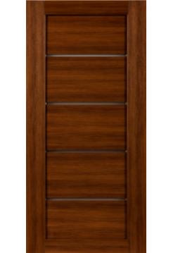 Межкомнатная дверь СО4 Орех грецкий co вставкой стекло