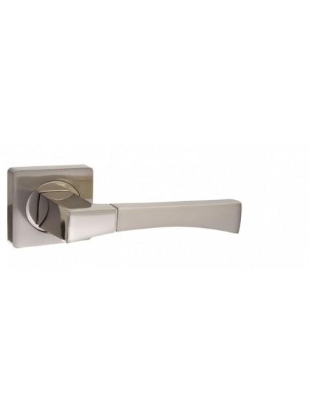 """Ручка дверная """"AL 532-02 SN/NP"""", никель матовый/никель блестящий"""