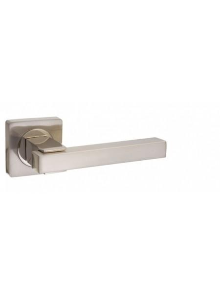 """Ручка дверная """"AL 533-02 SN/NP"""", никель матовый/никель блестящий"""