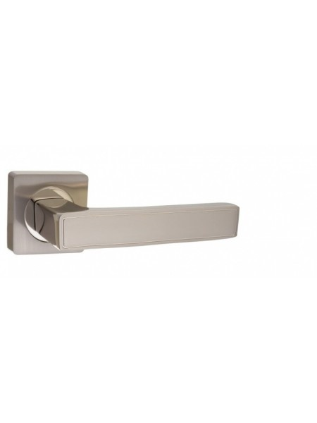 """Ручка дверная """"AL 534-02 SN/NP"""", никель матовый/никель блестящий"""