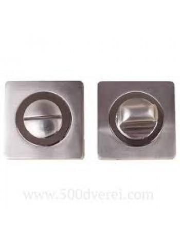 Завертка к ручкам BK AL 02, черный никель/никель матовый