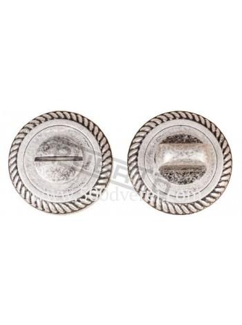 Завертка к ручкам BK AL 17, серебро античное