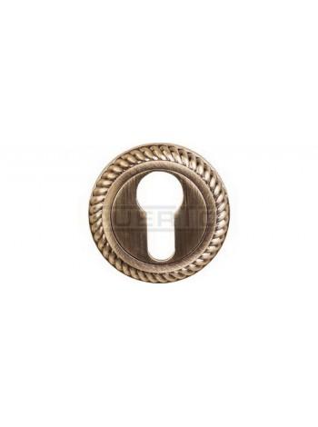 Накладка на цилиндр к ручкам BK AL 17, бронза античная