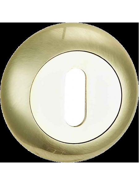 Накладка под сувальдн. ключ, латунь матовая/латунь блестящая