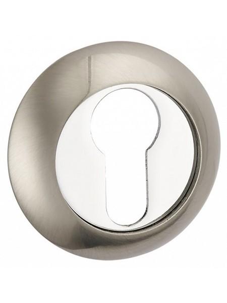Накладка под сувальдн. ключ,  никель матовый/никель блестящий