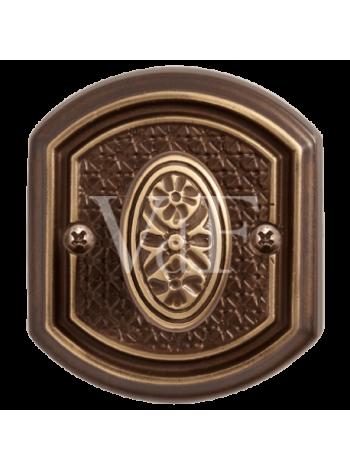 """Завертка к ручке """"Ризарди"""", бронза шоколадная"""