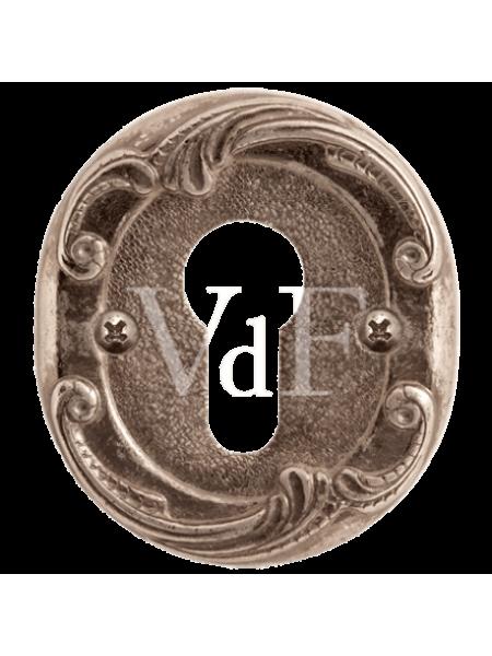 """Накладка  к ручкам """"Соланж"""" и """"Наполи"""", серебро античное блестящее"""