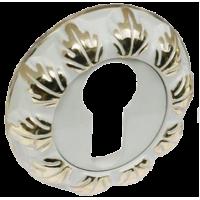 Накладка на цилиндр RENZ, белый/ золото бл 453 руб