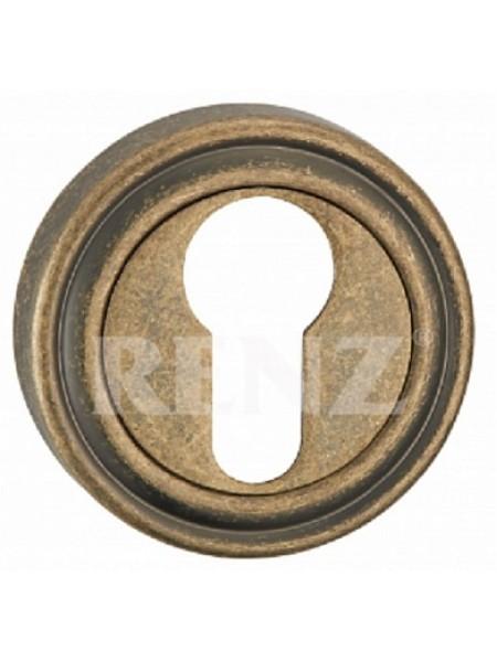Накладка на цилиндр, бронза античная матовая