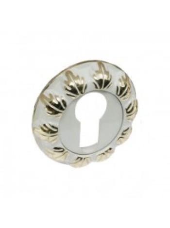 Накладка на цилиндр RENZ, белый/ золото бл 404 руб