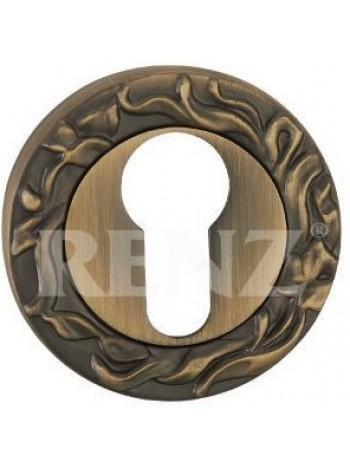 Накладка на цилиндр декоративная, бронза античная матовая 440 руб