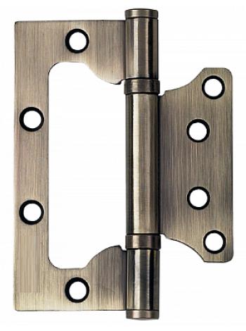 Петля стальная (БЕЗ ВРЕЗКИ) PUERTO, плоск. колп., бронза античная