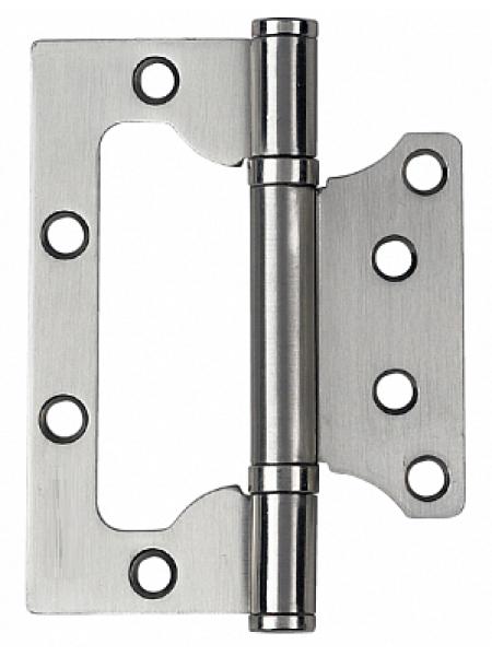 Петля стальная (БЕЗ ВРЕЗКИ) PUERTO, плоск. колп., никель матовый