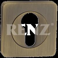 Накладка квадр. на цилиндр RENZ, бронза состаренная