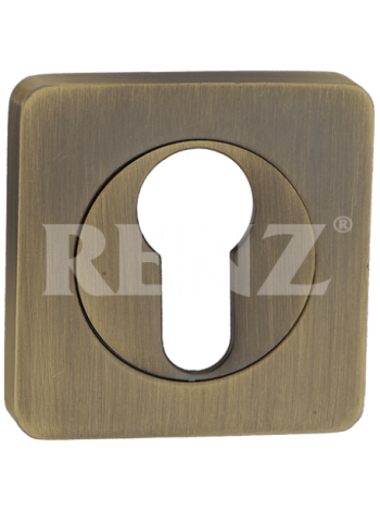 Накладка квадр. на цилиндр RENZ, бронза ант. матовая