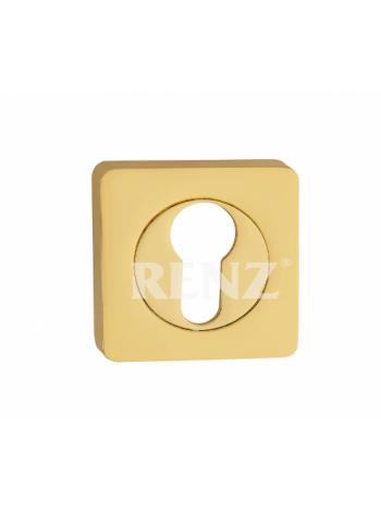 Накладка квадр. на цилиндр RENZ, латунь блестящая
