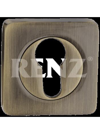 Накладка квадр. на цилиндр RENZ, ник.мат.-ник.бл.