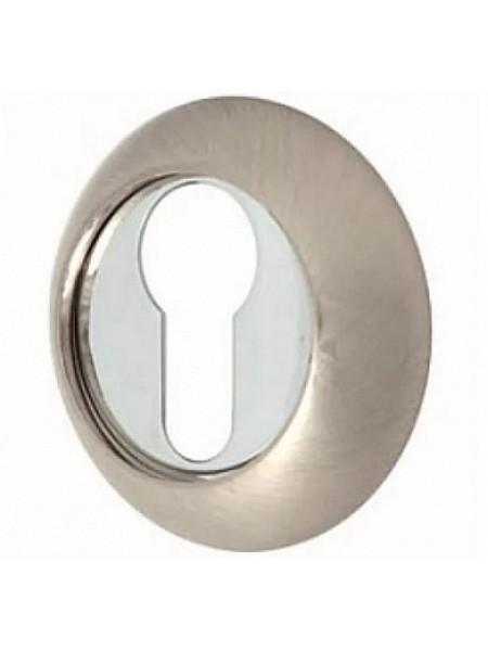 Накладка под сувальдный ключ RENZ, хром мат - хром блест.