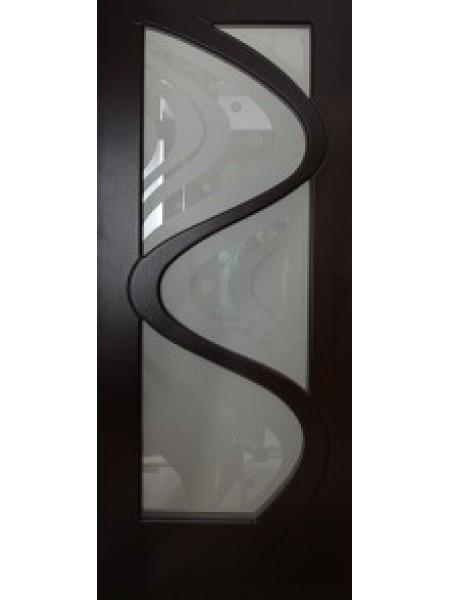 Межкомнатная дверь Волна шпон