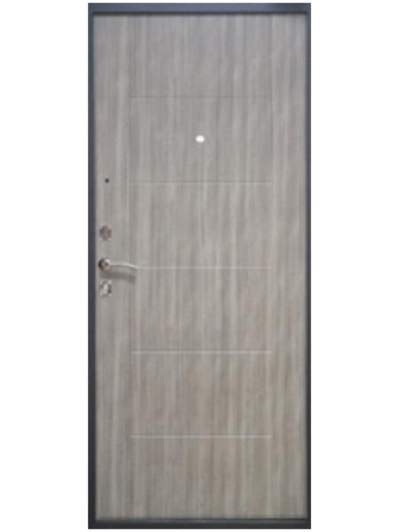 Металлическая дверь Гарда Дуб микс серый